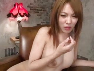 Amazing Rei lies back exposing her bunghole for a fingering
