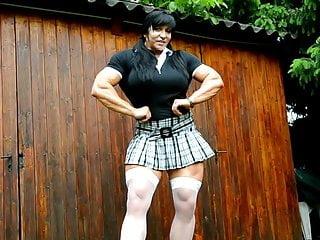 Huge FBB in Schoolgirl Outfit