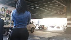 Beauitful Bubble Booty Latina Teen in Spandex