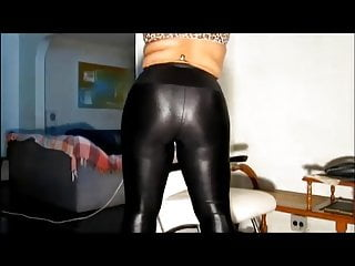 Chubby In Shiny Leggings Pantyhose