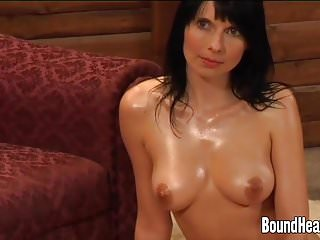 Lesbian Mistress Massaging Slave Bodies With Oil