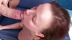 Vigorous sex followed by a facial