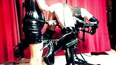 Latex Sissy Bitch - Strapon and fist games by Lady S