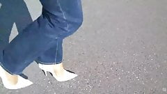 13cm High Heels Pumps - Jeans und Nylons