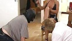 Slaves Worship Hot Blonde Mistress