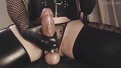 Big cock, close-up cumshot.