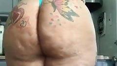 Girl big ass cellulite