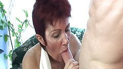 Old slut needs hard cock in her ass