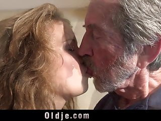 PLayful sweet teen gives grandpa incredible sex
