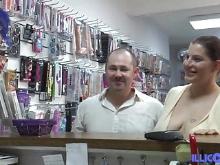 Fiby gets screwed by the boss of a sex shop
