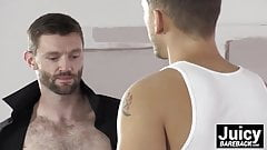 Dennis West taking Roman Todds raw cock deep in his tight as