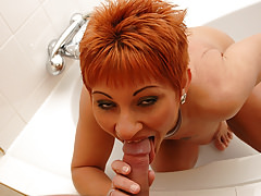 Mature woman on a young cock