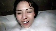 Hot tub threesome