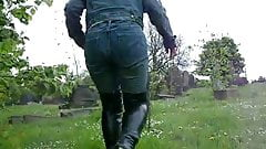 thigh boot walk