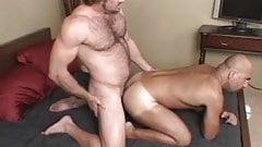 Raunchy gay trio hot fuck