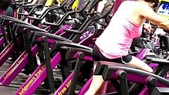 Nice milf working out at planet fitness gym