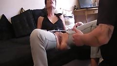 Fisting the wifes cavernous greedy pussy