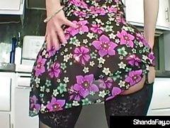 Hot Homemaker Shanda Fay Gets Hubby's Tongue & Cock In Pussy