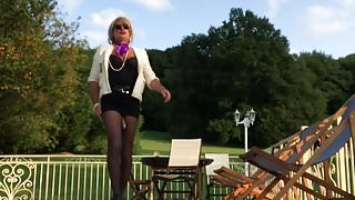 TRAVESTI CD TS TV SISSY COLLANTS PANTYHOSE outdoor exhib