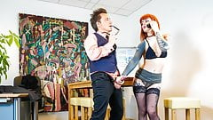 BUMS-BUERO - Inked ginger minx pounded by boss