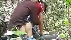 Burmese Teen fucked bend over motorbike