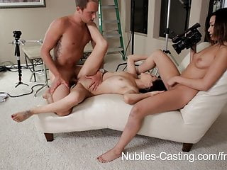 Nubiles Casting - Tiny latina hottie does her first hardcore