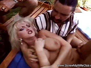 Preview 4 of Blonde Swinger Threesome In Pool