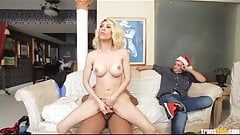 Tranny slut fucks black guy in front of her old boyfriend