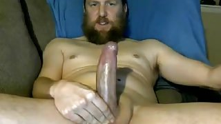 Hot Str8 Bearded Daddy with Hot Shaft blows a nice load #19