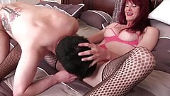 Asian Mistress Fucks Tranny