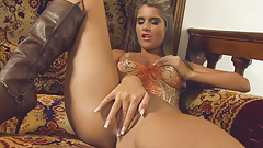 Beautiful babe toying her sweet pussy and asshole's Thumb