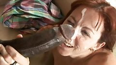 MATURE TAKES FACIAL FROM A HUGE BBC