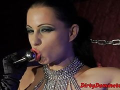 Bigass dominatrix bitch teasing with her cunt