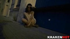 Krakenhot - BDSM and public nudity with big boobs girl