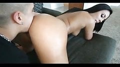 big ass tanned babe fake french nails