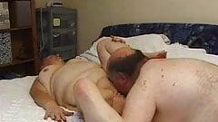 Mature couple at play ..