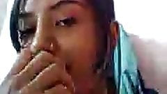 girl with a noth on skype