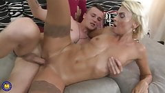 Big and skinny matures seduce young boys