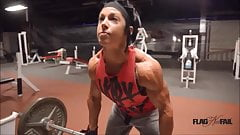Physique Girl Lifting