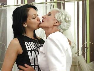 Hairy Granny Fucks Very Naughty Lesbian Teeny Babe