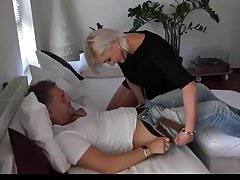 blonde chick creampied in pantyhose