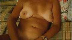 MILF with Great Tits Plays with her Pussy's Thumb