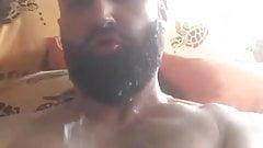Bearded Self Facial Cum Shot