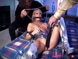 Preview 2 of Sexy babe takes 2 Cocks