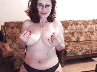 Maria asshole - Hot 48 yo russian mature maria play in skype