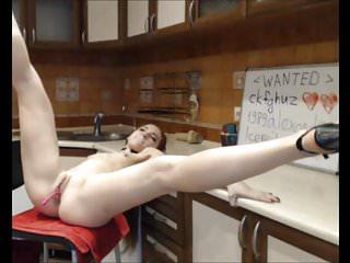 Hot Redhead StepSister In High Heels Teasing On Webcam p1
