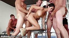 DogHouse Slutty Chick Bukkake at Gym