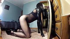 Bodystocking + dildo BJ teaser clip