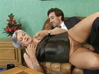 Silver grey hair granny anal