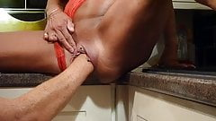 Milf fisted in kitchen